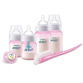 Bottle Kit Avent Anti-Colic Pink - 0m+