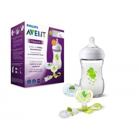 Gift Pack Avent Baby Bottle Natural et Soothers Dragon