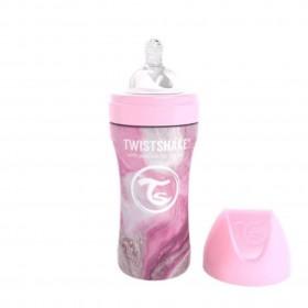 Twistshake Anti-Colic Stainless Steel 330 ml Marble Pink