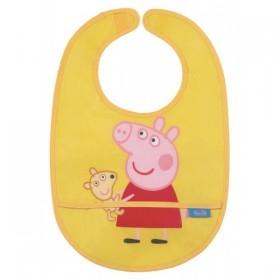 Waxed Bib Peppa Pig Yellow
