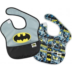 Bib with Pocket Batman x2