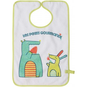 Babycalin Bib with Pacifier Clip Gourmand18 months + - 42x28 cm