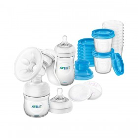 Breastfeeding Pack Avent - Manual Breast Pump and Storage Accessories