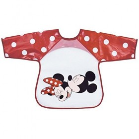 Mickey and Minnie Red Bib