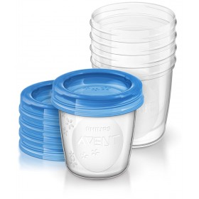 Philips Avent - 5 Preservation Pots with Lids - 240 ml