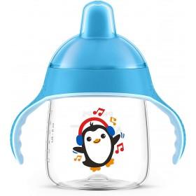Tasse d'apprentissage Avent Pingouin bleu - 260 ml