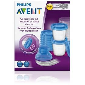 Philips Avent - 10 Pots de Conservation pour Lait Maternel 180 ml