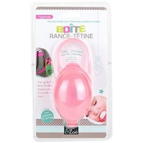 Tom & Zoé Pacifier Box with Hook - Pink