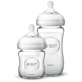 Avent Natural Glass Baby Bottle Box - 240 ml and 120 ml