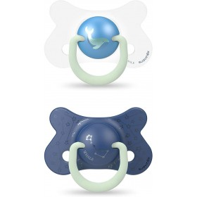 Suavinex Phospho Night & Day Pacifier 18 Mois + x2 Blue Whale