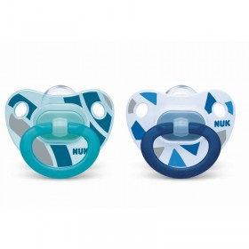 2 NUK Classic Girls Pacifiers Blue 18-36 months