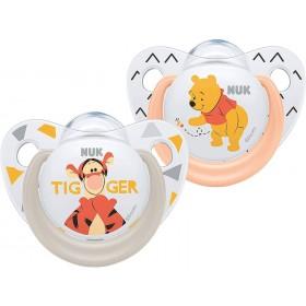 2 NUK Winnie the Pooh Trendline Schnuller 0-6 Monate