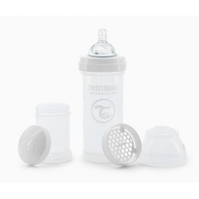 Twistshake White Bottle 260 ml