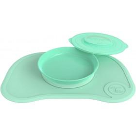 Click-Mat avec Assiette Twistshake Vert