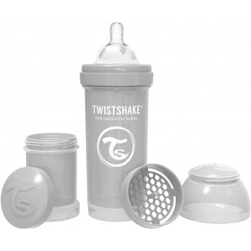 Baby Bottle Twistshake Pearl Grey 260 ml