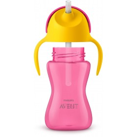 Straw Cup 300ml - Pink and...