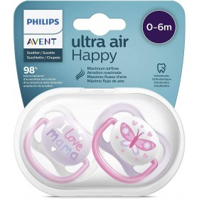 Avent Ultra Air Pacifiers 0-6 months I Love Mama