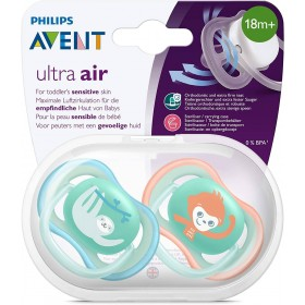 Avent Ultra Air Pacifier 18 months + Lazy Monkey