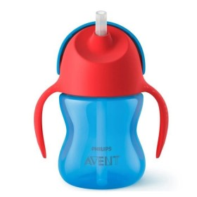 Philips Avent - Straw Cup 200ml Red and Blue Boy
