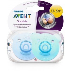 Philips Avent - Pacifiers Soothie Boy - 0-3 months Lot of 2