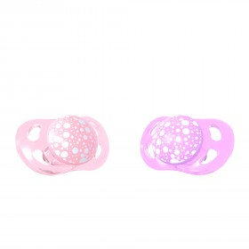 Twistshake 2x Pacifier 0-6M Pastel Pink Purple