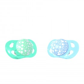 Tétine Twistshake Pacifier Bleu Pastel et Vert 6M+ x2 disponible sur Allobiberons.fr